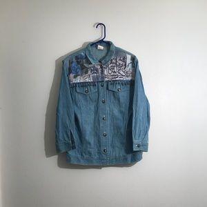 Saint Germain Paris Vintage Button Down Shirt Med
